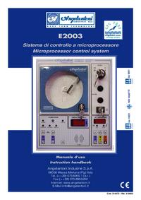 User Manual Angelantoni E2003