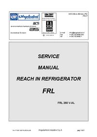 Serviceanleitung Angelantoni FRL 260 V-AL