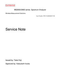 Manual de servicio Anritsu MS2650 Series