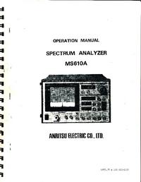 Bedienungsanleitung Anritsu MS610A