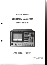 Service Manual Anritsu MS610J