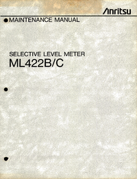Service Manual Anritsu ML422C