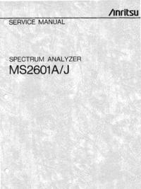 Service Manual Anritsu MS2601J