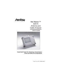 User Manual Anritsu Site Master S251A