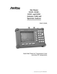 Manuale d'uso Anritsu Site Master S332C
