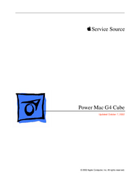 Manuale di servizio Apple Power Mac G4 Cube