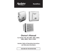 User Manual Aprilaire 600A