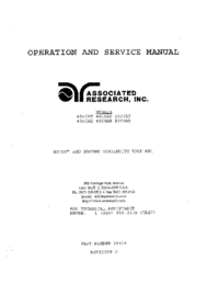 Service and User Manual AssociatedResearch 4040AT