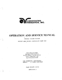 Service and User Manual AssociatedResearch 5450DT