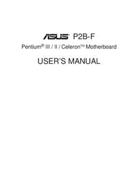 Руководство пользователя Asus P2B-F