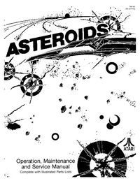 Serwis i User Manual Atari Asteroids