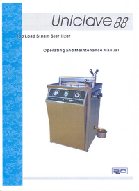 Service and User Manual Autoclaves Uniclave 88