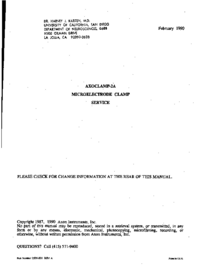 Service Manual Axon Axoclamp 2A