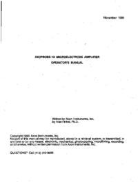 User Manual Axon Axoprobe 1A