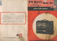 Service- und Bedienungsanleitung BK VO Matic 360