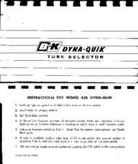 User Manual BK 650