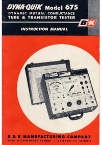 User Manual BK 675