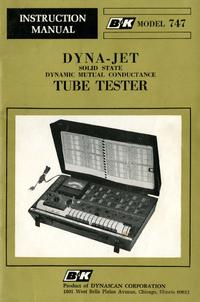 User Manual BK 747