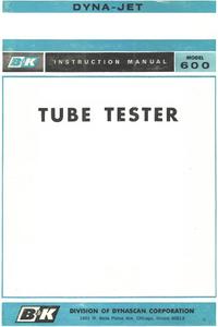 User Manual BK 600