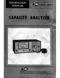 Service-en gebruikershandleiding BK 801