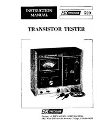 Instrukcja obsługi BKPrecision 520