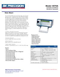 Datasheet BKPrecision 4070A