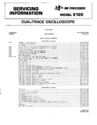 manuel de réparation BKPrecision 2120