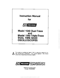 User Manual BKPrecision 1560