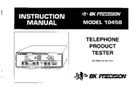 Gebruikershandleiding BKPrecision 1045B
