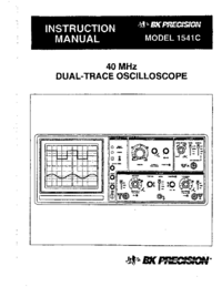 Manual del usuario BKPrecision 1541C