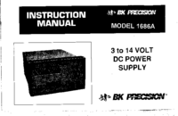 User Manual BKPrecision 1686A
