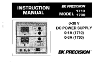 User Manual BKPrecision 1710