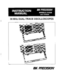 Manual del usuario BKPrecision 2120B