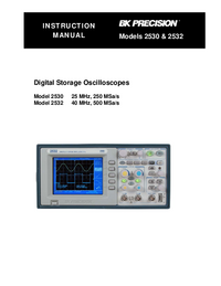 Manual del usuario BKPrecision 2530
