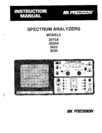Manual del usuario BKPrecision 2620A