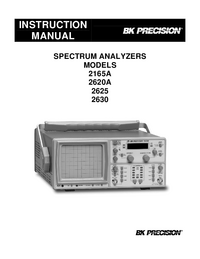 User Manual BKPrecision 2165A