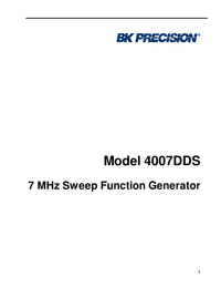 User Manual BKPrecision 4007DDS