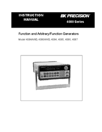 User Manual BKPrecision 4086AWG