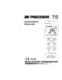 Manual del usuario BKPrecision 715