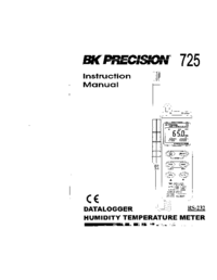 Manual del usuario BKPrecision 725