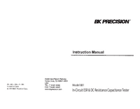 Manuel de l'utilisateur BKPrecision 881A