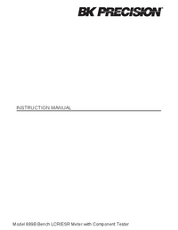 Manual del usuario BKPrecision 889B