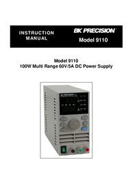 User Manual BKPrecision 9110