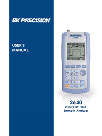 Manual del usuario BKPrecision 2640