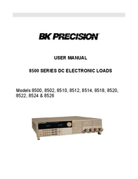 Manual do Usuário BKPrecision 8502