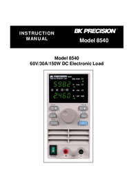 User Manual BKPrecision 8540