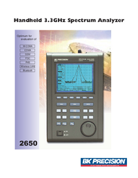 Технический паспорт BKPrecision 2650