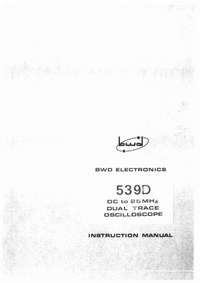 Service and User Manual BWD 539D