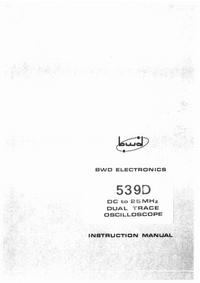 Servizio e manuale utente BWD 539D