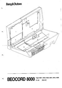 Instrukcja serwisowa BangOlufsen Beocord 8000 Type 4821